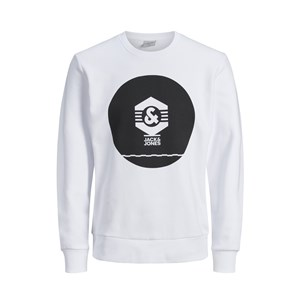 Jack Jones Sweat Known Crew Neck -Wht