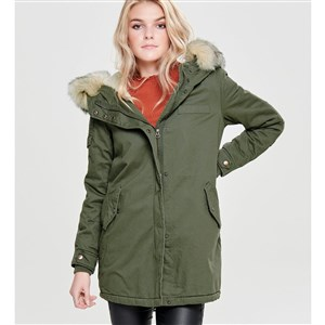 Only Parka Onlmay Fur Canvas